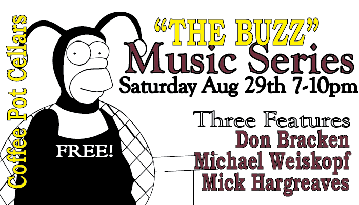 The Buzz, Aug 29th; 7-10pm